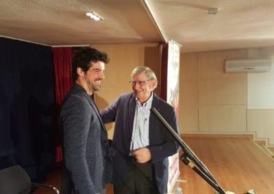 Pepe Casanova y Miguel Angel Muñoz charla