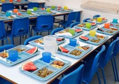 Comedor-primaria del colegio privado Logos International