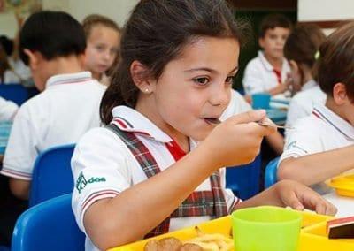 Comedor de primaria en el colegio privado en Las rozas