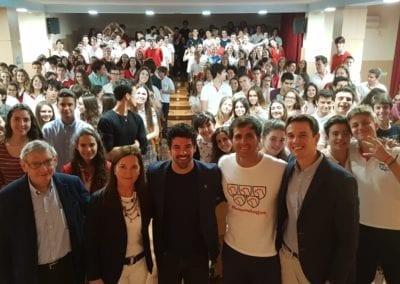 Encuentro porefes y alumnos con Miguel Angel Muñoz